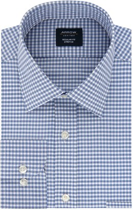 Arrow Men's Regular-Fit Stretch Spread-Collar Dress Shirt