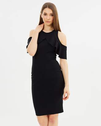 DECJUBA Raine Ponte Cutout Frill Dress