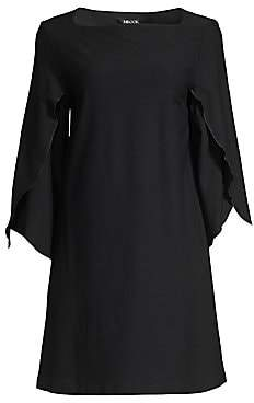 Misook Women's Drape Sleeve Crepe Dress