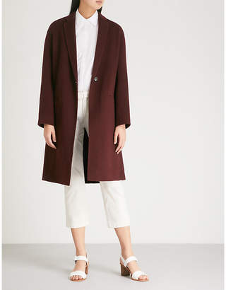 Vince Single-breasted wool-blend coat