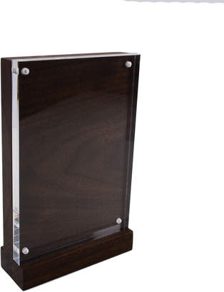 Husk And Brown Modern Wood and Acrylic Picture Frame