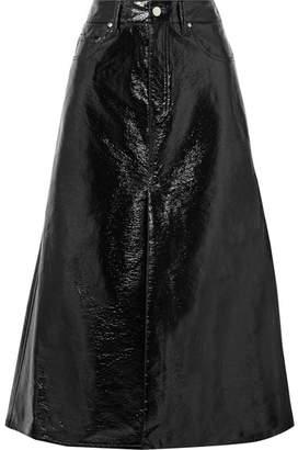 Beaufille - Latona Vinyl Midi Skirt - Black