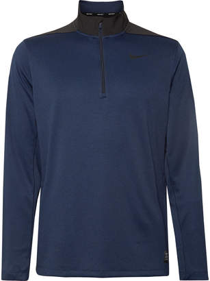 Nike Stretch Mesh-Panelled Dri-Fit Half-Zip Golf Top