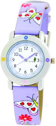 Cactus Girl's Quartz Analogue Watch CAC-53-L09 with Butterflies Stone Dial