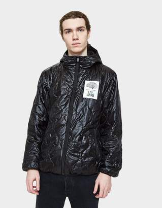 Undercover Hooded Down Jacket in Black