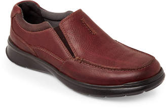 Clarks Black Cotrell Free Leather Slip-Ons
