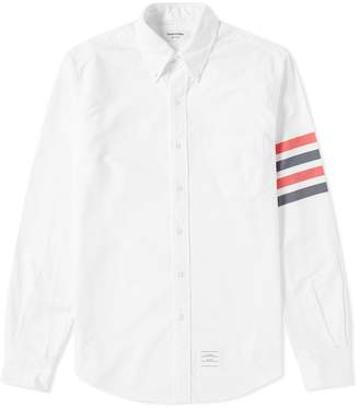 Thom Browne Woven 4 Bar Oxford Shirt