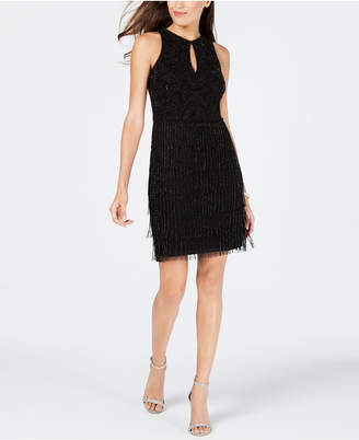 Adrianna Papell Beaded Keyhole Dress