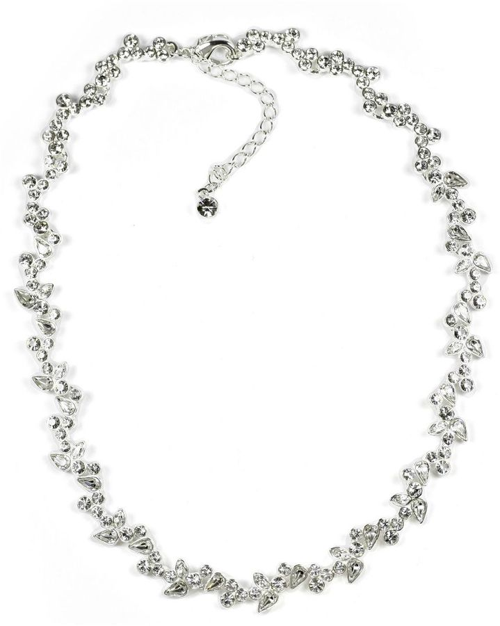 Givenchy Crystal Floral Necklace