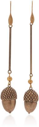 Carolina Herrera Acorn With Metal Bead Earrings