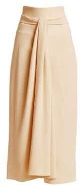 The Row Alina Tie-Waist A-Line Midi Skirt