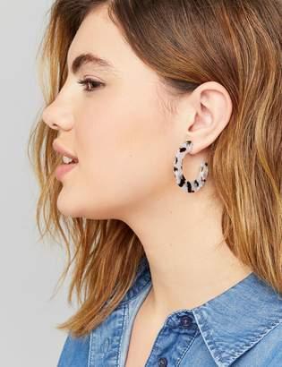 Lane Bryant Resin Hoop Earrings