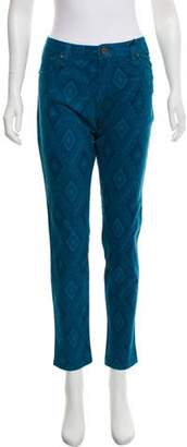 Sanctuary Printed Straight-Leg Jeans