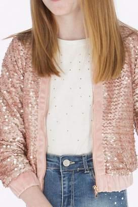 Mayoral Pink Sequin Jacket