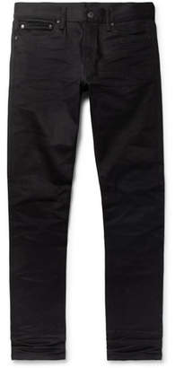 John Elliott The Cast 2 Skinny-Fit Coated Stretch-Denim Jeans