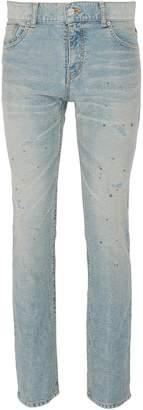 NOVE Paint splatter slim fit jeans