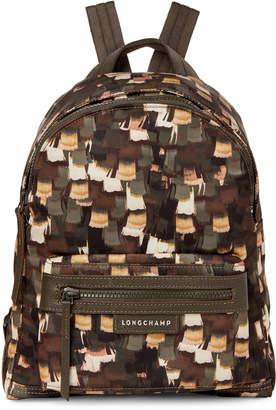 Longchamp Khaki Le Pliage Neo Vibrations Small Backpack