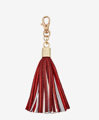 GiGi New York Tassel Bag Charm, Crimson and White