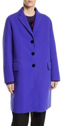 Marc Jacobs Notch-Collar Button-Front Wool-Blend Mid-Length Slim Caban Coat