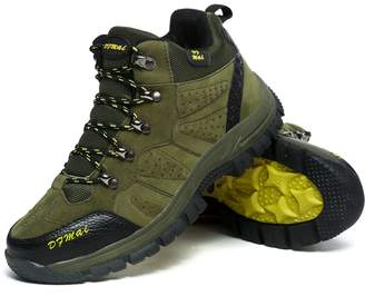 GOMNEAR Mens Hiking Boots Trail Mountain Shoes Walking Travel Camping Outdoor Boots Sneaker Plus