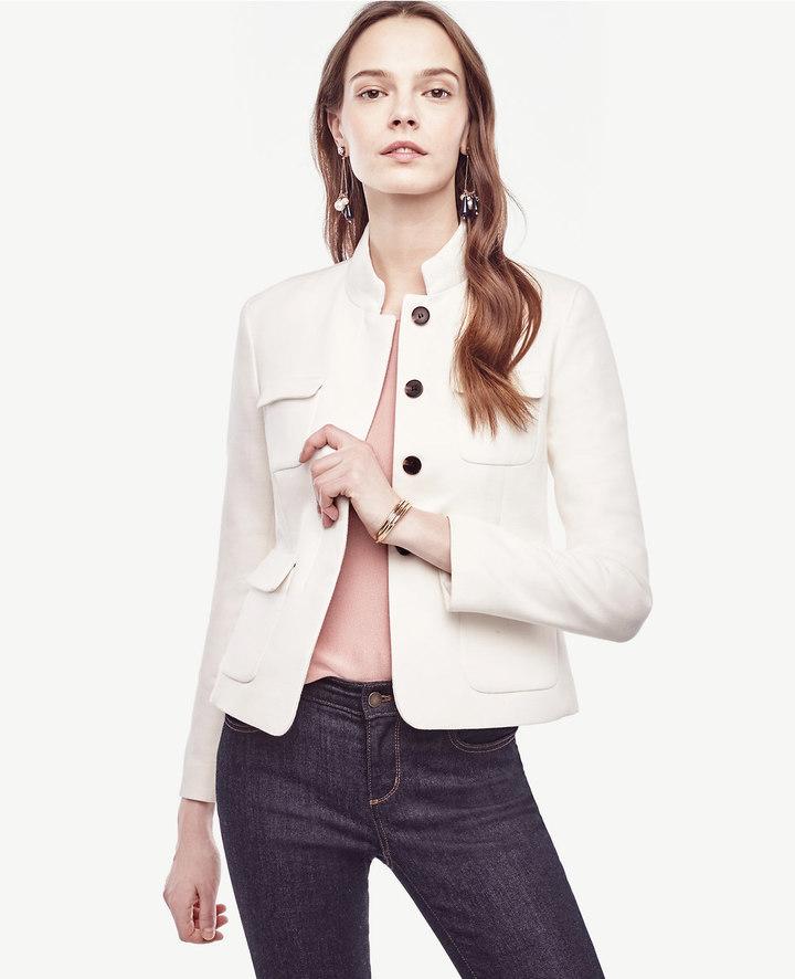 Ann TaylorPatch Pocket Twill Jacket