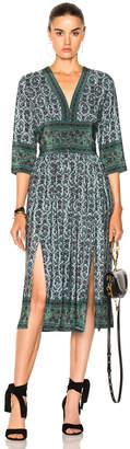 Sea 3/4 Sleeve Slit Midi Dress $445 thestylecure.com