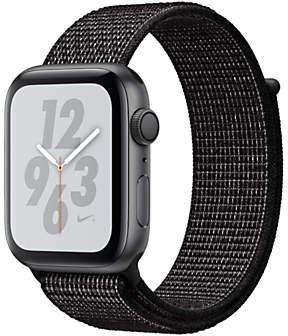 Apple Watch Series 4, GPS, 44mm Aluminium Case with Nike Sport Loop, Black