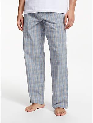 John Lewis & Partners Multi Check Poplin Pyjama Bottoms, Blue