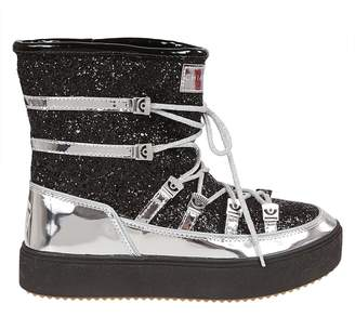 Chiara Ferragni Glittered Coating Mirrow Snow Boots