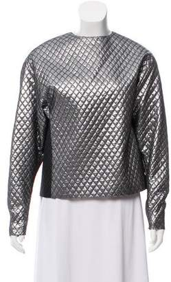 Michael Kors Quilted Metallic Top