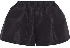 RED Valentino Gathered Taffeta Shorts