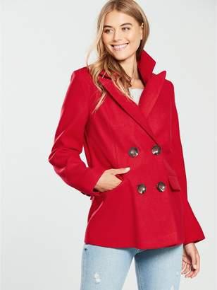 Warehouse Double Breasted Short Blazer Coat