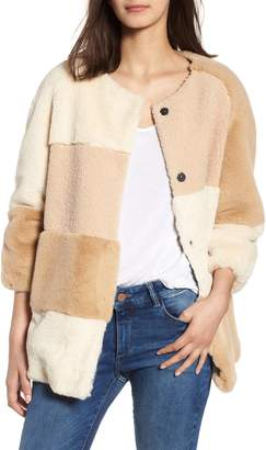 BCBGeneration Patchwork Faux Fur Jacket