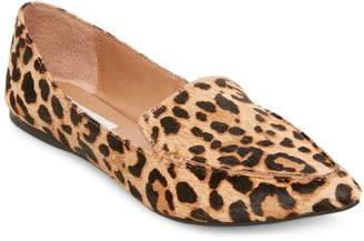 Steve Madden Feather Pointed Leopard Flats