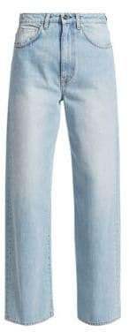Totême Women's Flair Wide-Leg Jeans - Light Blue - Size 28 (6)