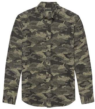 Banana Republic BR x Kevin Love | NEW Slim-Fit Japanese Cotton Blend Camo Shirt