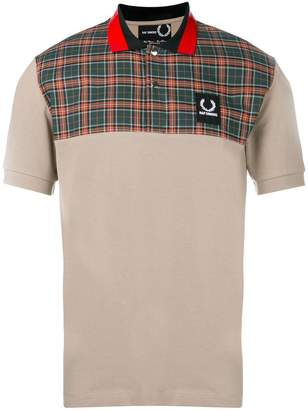 Fred Perry check print polo shirt