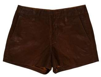 J Brand Mid-Rise Coated Shorts