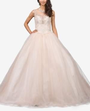 Dancing Queen Juniors' Bejeweled Corset Gown