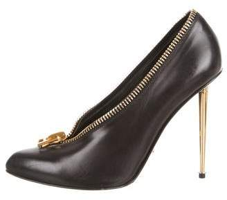 Tom Ford Zipper Pointed-Toe Pumps