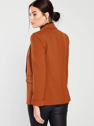 Miss Selfridge Double Breasted Notch Sleeve Blazer - Rust