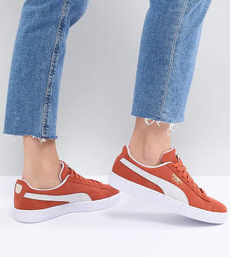 Puma Suede Sneakers In Orange