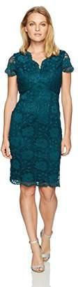 Ellen Tracy Women's Lace Dress with V-Neck-Petite
