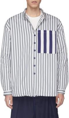 Sunnei Contrast back chest pocket stripe padded shirt