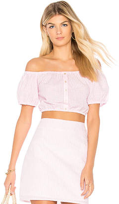 MinkPink Gables Off Shoulder Top