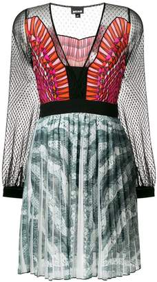 Just Cavalli printed pleated dress