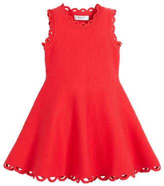 Milly Minis Eyelet Fit-and-Flare Dress, Size 8-14