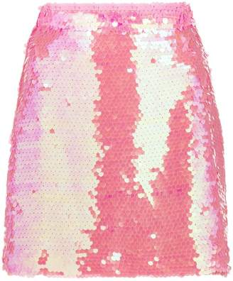 Milly sequin embellished mini skirt