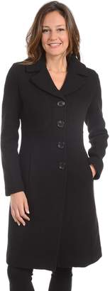 Fleet Street Women's Long Wool Blend Coat