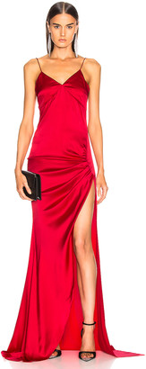 Caroline Constas Lainey Gown in Ruby Red | FWRD
